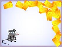 Maus und Käse Stock Abbildung