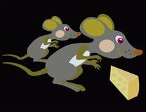 Maus und Käse Lizenzfreie Stockfotos