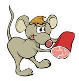 Maus und Nahrung lizenzfreie abbildung