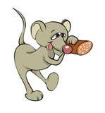 Maus und Nahrung stock abbildung