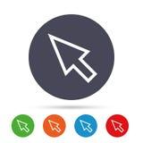 Mauscursorzeichenikone Zeigersymbol Stockfoto