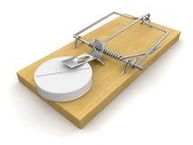 Mausefalle und Tablet (Beschneidungspfad eingeschlossen) Lizenzfreie Abbildung
