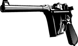 Mauser 712. Vector illustration of a Mauser 712 gun black and white Stock Photos
