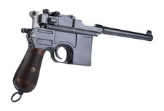 Mauser C96. On white bg Stock Photography