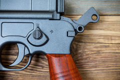 Mauser machine pistol, part of Royalty Free Stock Image