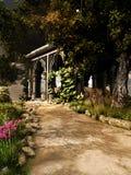Mausolée dans le vieux jardin illustration stock