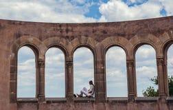 Mausolée dans Montserrat Image libre de droits