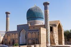 Mausolée de Gur-e Amir de Tamerlan - Samarkand, l'Ouzbékistan Photos stock