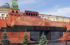 Mausolée de Lénine, grand dos rouge. Image stock