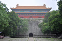 Mausolée de Ming Xiaoling, Nanjing Photos libres de droits