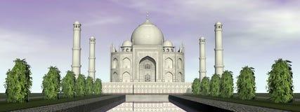 Mausolée de Taj Mahal, Âgrâ, Inde - 3D rendent illustration stock