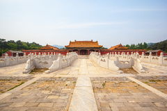 Mausolées orientaux Jing Mausoleum (Kang Xi) de Qing Images libres de droits
