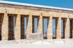 Mausoléu Ancara de Ataturk fotografia de stock