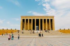 Mausoléu de Anitkabir de Ataturk em Ancara, Turquia fotografia de stock royalty free