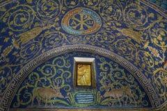 Mausoléu de Galla Placidia, Ravenna, Italy Imagens de Stock Royalty Free