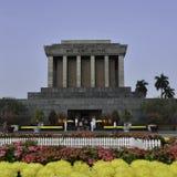 Mausoléu de Ho Shi Min na cidade de Hanoi Imagens de Stock