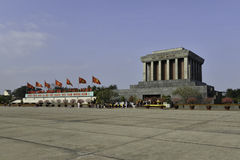 Mausoléu de Ho Shi Min na cidade de Hanoi Imagem de Stock