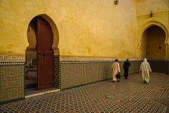 Mausoléu de Moulay Idris em Meknes, Marrocos foto de stock