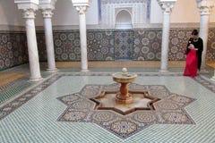 Mausoléu de Moulay Ismail em Meknes Imagens de Stock