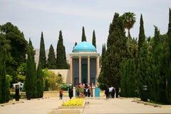 Mausoléu do parque de Saadi em Shiraz Fotos de Stock Royalty Free