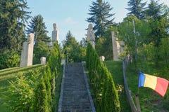Mausoléu dos heróis de Moisei no vale de Viseului, Maramures Romênia Foto de Stock Royalty Free