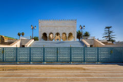 Mausoléu Mohamed V em Rabat, Marrocos Imagem de Stock