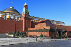 Mausoléu no quadrado vermelho, Moscovo, Rússia Imagens de Stock Royalty Free