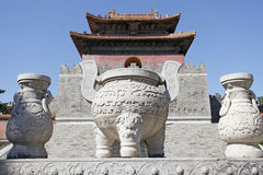 Mausoléu real chinês. Foto de Stock