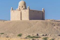 Mausoleet av Aga Khan i Aswan, Egypten arkivfoto