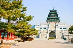 Mausoleet av den Wang konungen av Korea Arkivbilder