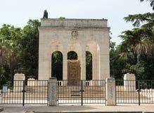 Mausoleo在Janiculum小山的Ossario Garibaldino在罗马 库存照片