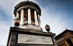 Mausoleo a Cementerio de La Recoleta Buenos Aires, Agentina immagine stock libera da diritti