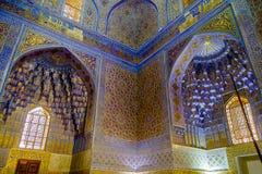Mausoleo de Gur Emir del conquistador asiático Tamerlane dentro fotografía de archivo