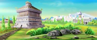 Mausoleo de Halicarnassus ilustración del vector
