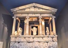 Mausoleo de Halikarnassos en el museo británico, Londres, Reino Unido imagen de archivo