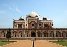 Mausoleo de la tumba de Delhi Humayun del indio. Viaje a la India Imagenes de archivo