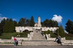 Mausoleo de los héroes en la yegua-Pravăt de Valea Imágenes de archivo libres de regalías