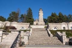 Mausoleo de los héroes en la yegua-Pravat de Valea Imagen de archivo