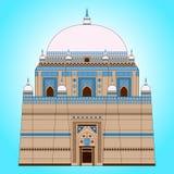 Mausoleo de Rukn-e-Alam del Sah ilustración del vector