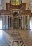 Mausoleo de Sultan Qalawun con el lugar de mármol colorido adornado Imágenes de archivo libres de regalías