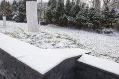 Mausoleo de Sun Yat-sen después de las nevadas en Mafang imágenes de archivo libres de regalías
