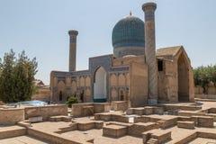 Mausoleo del Gur-emir en Samarkand, Uzbekistán imágenes de archivo libres de regalías
