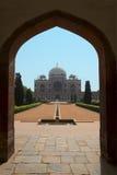 Mausoleo della tomba di Delhi Humayun dell'indiano. Viaggio in India fotografie stock libere da diritti