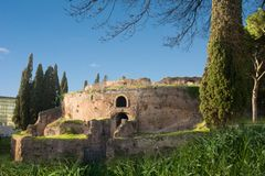Mausoleo di Augusto. The monument to Augusto, Emperor of ancient Rome, in the heart of The Eternal City in a clear, sunny day Royalty Free Stock Images