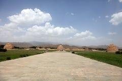 Mausoleo di dinastia di xixia fotografia stock