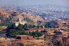 Mausoleo di Jaswanth Thada, Ragiastan, India Fotografie Stock