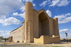 Mausoleo di Khoja Ahmed Yasavi in Turkistan, il Kazakistan Immagini Stock Libere da Diritti
