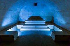 Mausoleo di Njegos nel parco nazionale di Lovcen - Montenegro Immagini Stock