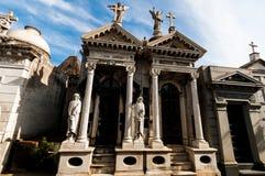 Mausoleo en Cementerio de La Recoleta Buenos Aires, la Argentina fotografía de archivo libre de regalías