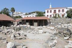 Mausoleo en Halicarnassus en Bodrum, Turquía fotos de archivo
